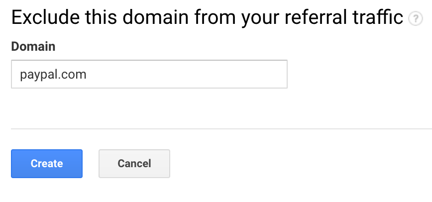 Screenshot of step 3 of fixing the Paypal referral issue in Google Analytics.