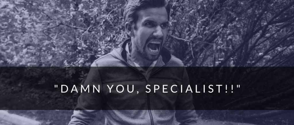 Image of man that is frustrated with their Google Ads specialist.