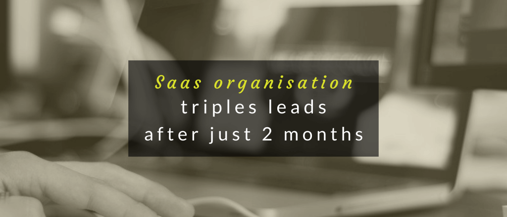 Header image for SaaS case study.