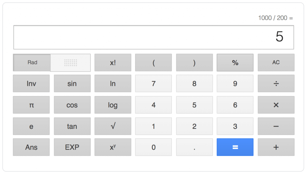 Screenshot of online calculator to calculate CPC.