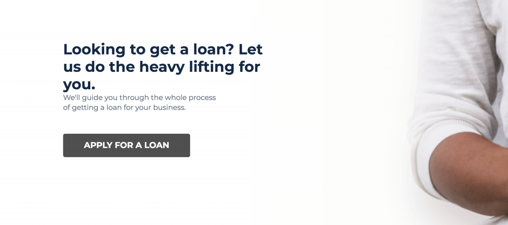 Screenshot of cta section of landing page template.