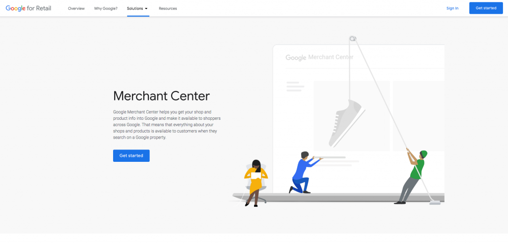 Screenshot of the Google Merchant Center.